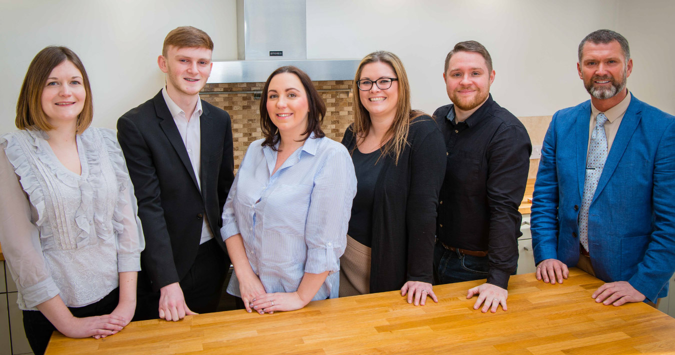 This is a photo of the office team at iMove Estate Agents Blackpool.